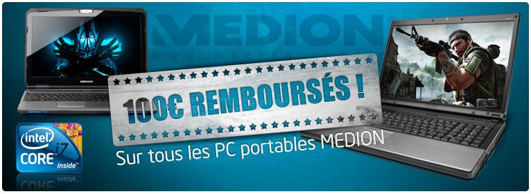 -100€ sur Medion chez Materiel.net
