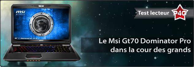 MSI Dominator Pro en test